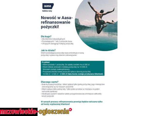 Nowość w Aasa - refinansowanie pożyczki!